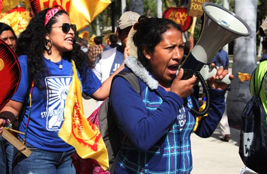 The 200-mile March for Rights, Respect, and Fair Food by the Coalition of Immokalee Workers in March 2013. Photo courtesy of CIW ciw-online.org/march/index.html.
