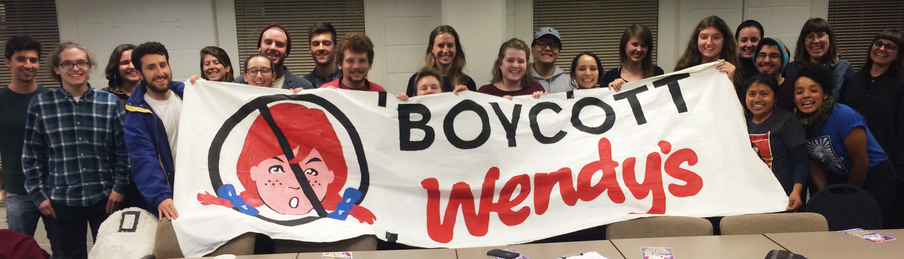 Students at UPenn proudly take up the Fair Food banner