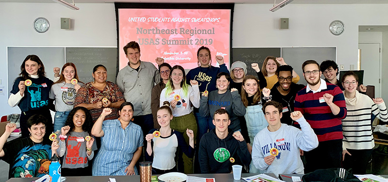Student organizers with United Students Against Sweatshops invite CIW's Lupe Gonzalo to present on farmworkers' human rights at the 2019 USAS Northeast Regional Summit, hosted by Columbia University's Student Worker Solidarity.