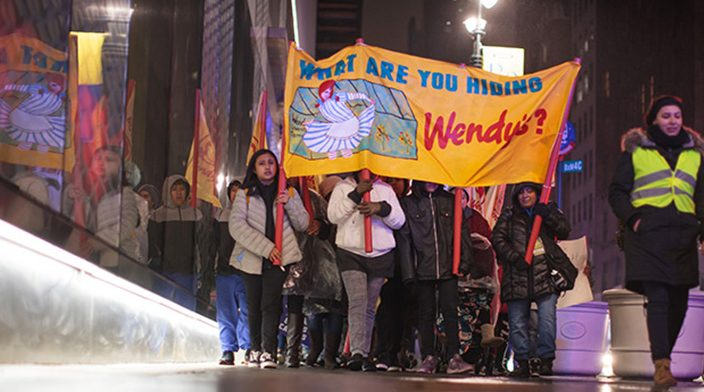 500+ farmworkers and supporters marched through Manhattan, demanding transparency and a real commitment to farmworkers' human rights from Wendy's.