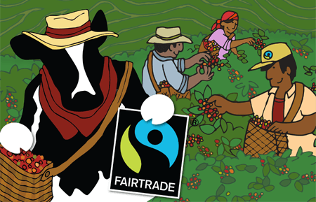 Ben & Jerry's advertise their Fair Trade Certified coffee