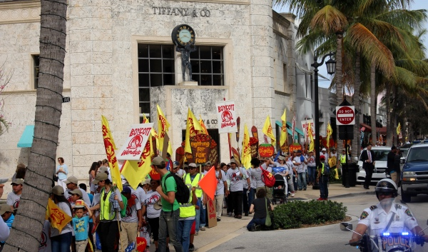 500+ marchers wind through Palm Beach's Worth Avenue last Saturday