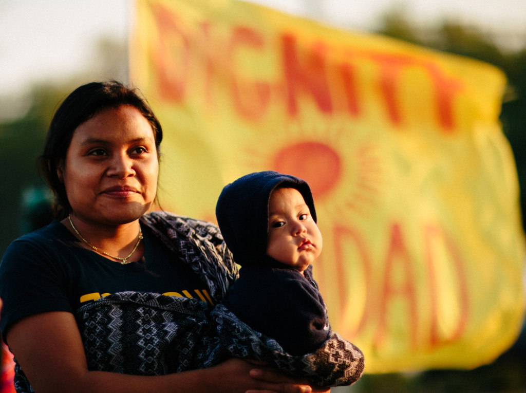 CIW Worker and Child