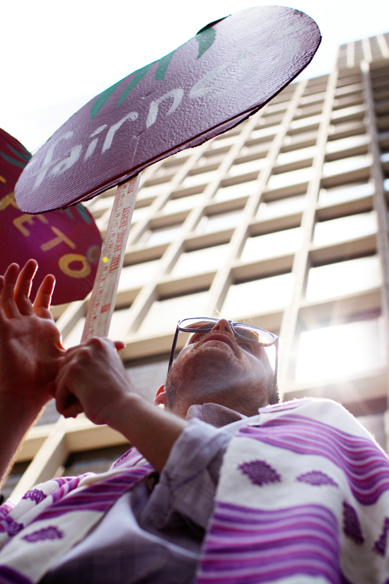 Jewish leaders from T'ruah:  The Rabbinic Call for Human Rights leading a June 2014 action outside of the office of Wendy's Board Chairman Nelson Peltz